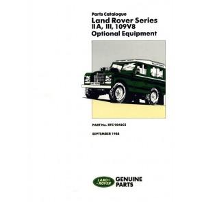 Series 2A, 3 & 109 V8 - Optional Equipment Parts Catalogue RTC9842CE