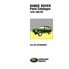 Range Rover Classic - 1970 - 1985 Parts Catalogue RTC9846CH