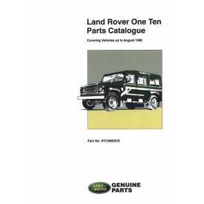 Defender One Ten - Covering vehicles up to August 1986 Parts Catalogue RTC9863CE