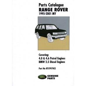 Range Rover P38 - 1995 - 2001 Parts Catalogue RTC9970CE