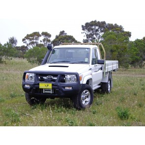 ARB Smart Bar Bumper Toyota Landcruiser 76, 78 Troopy & 79 Cab Chassis 03/07 On White (Winch)