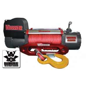 Warrior S12000 Samurai Winch with Synthetic Rope 12v