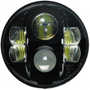"7"" Guardian LED Headlight RHD - Black Chrome"