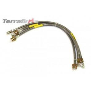 Terrafirma standard length stainless steel braided brake hose kit (Discovery 1 1994-1998 with ABS)