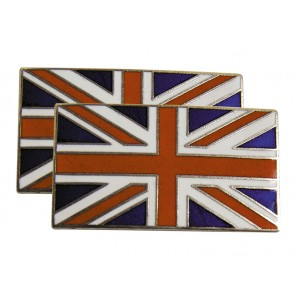 Stick on Enamelled Union Jack Badges - Colour