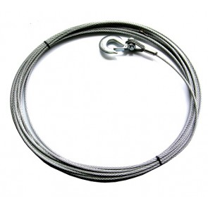 Wire Rope 46m / 150ft 8mm Fused And Tapered With Hook For 8274