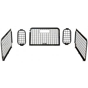 D44 Defender 2002 to 2016 External Window Guard Set (with inside rear door) 90 picture