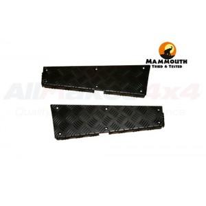 Mammouth 3mm Premium rear body corner protectors Defender 110 1983-2007 (black powder coated) picture